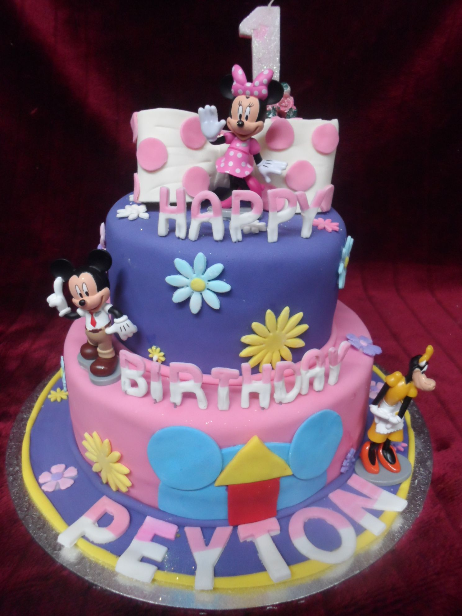 MINNIE MOUSE 2 TIERED BIRTHDAY CAKE wwwfrescofoodsconz Email