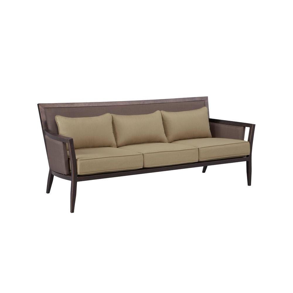 Brown Jordan Greystone Patio Sofa with | Patio sofa ...