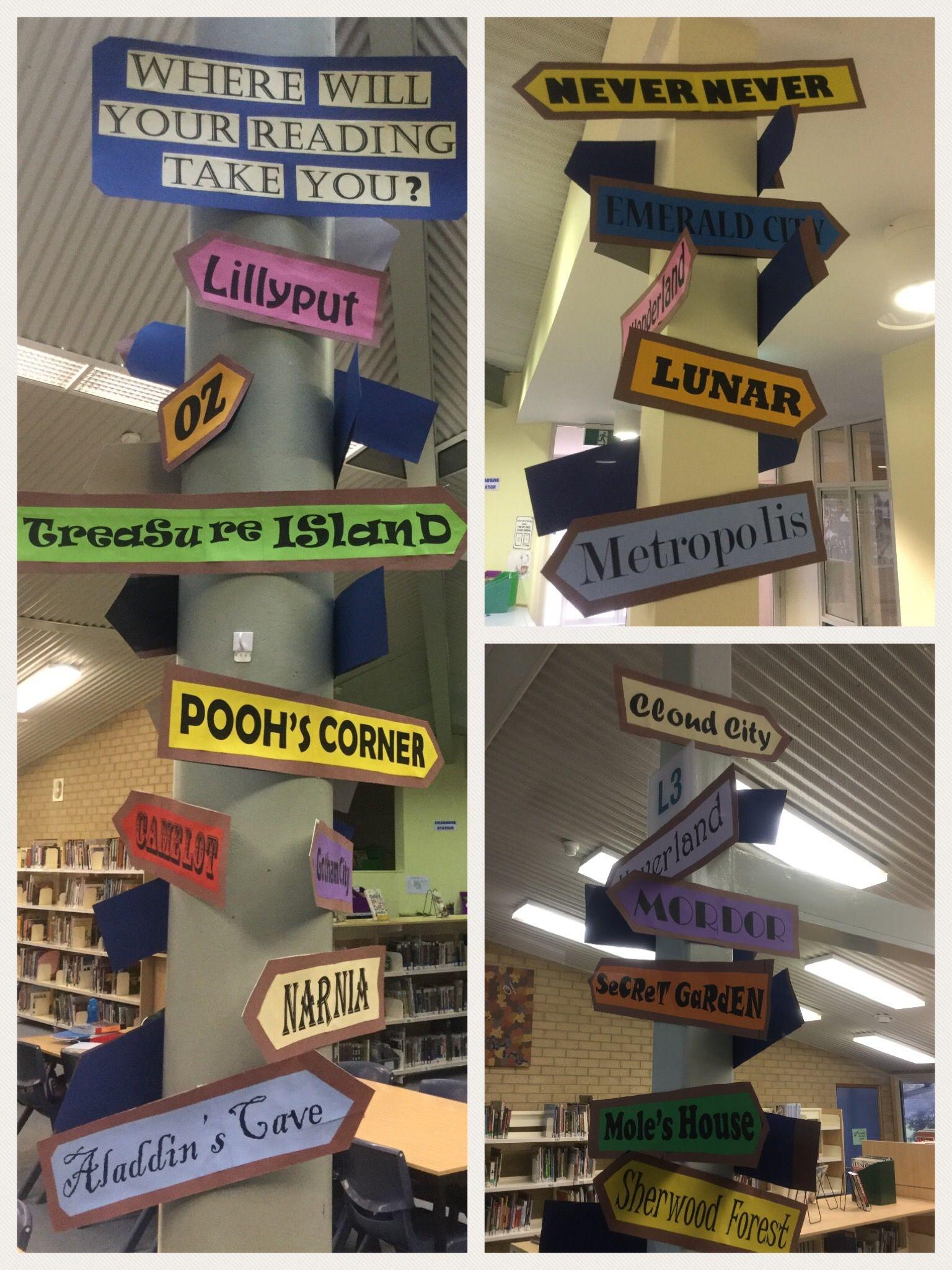 Trinity Christian School Book Week Display