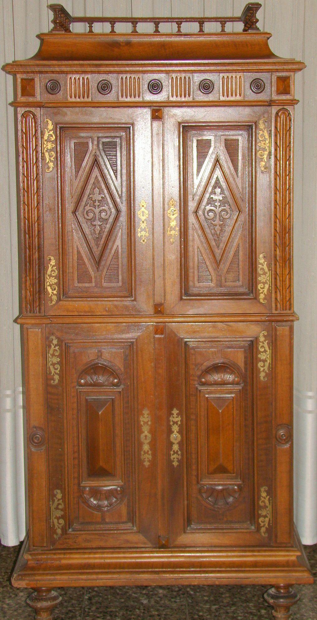Mueble estilo renacimiento italiano 4 puertas con for Muebles estilo italiano