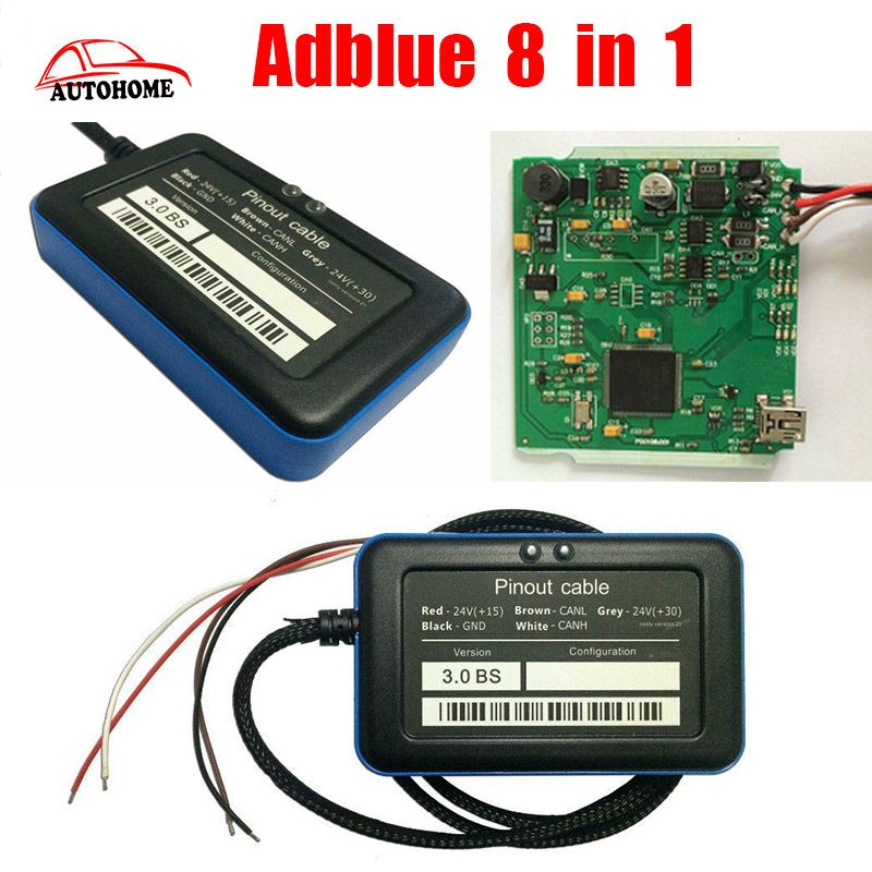 New V3 0 Adblue Emulator 8 in 1 Supports Euro 4&6 Remove