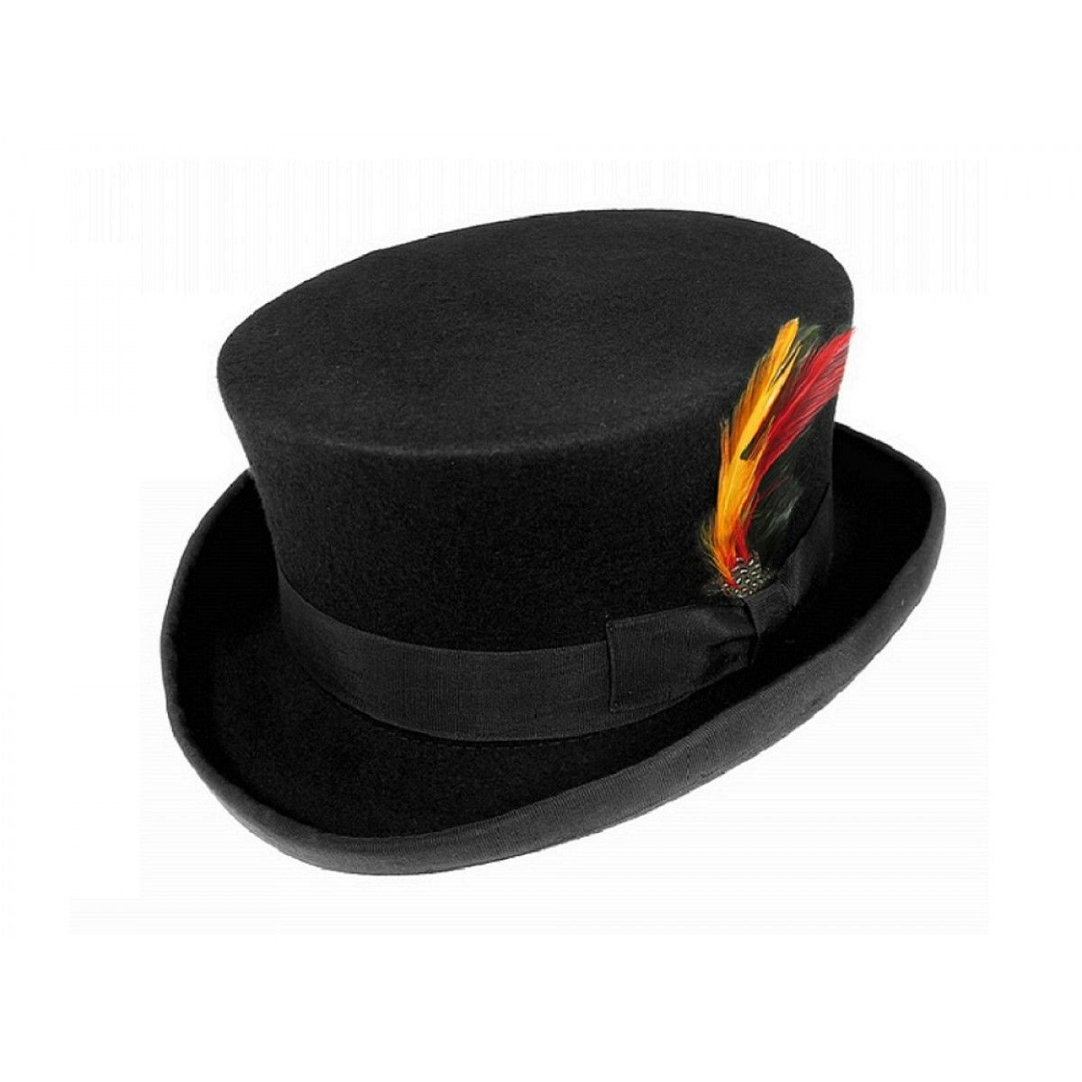 48f7e4fed09 Wool Felt Dickens Short Top Hat with approx 4 crown - Black ...
