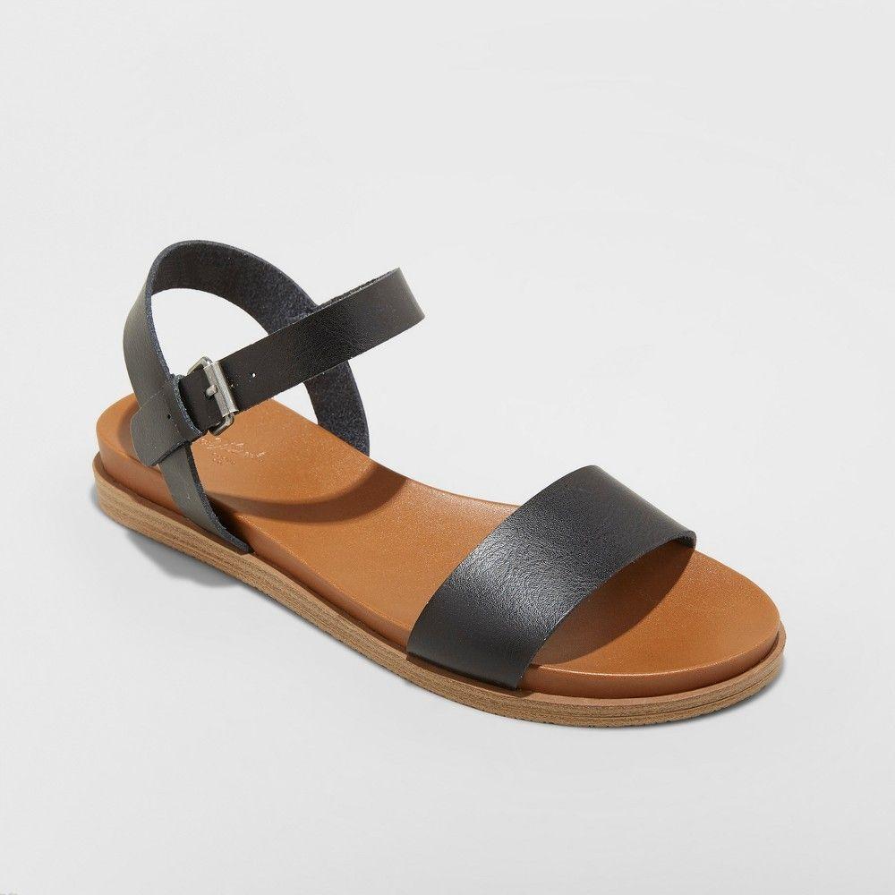 31466ce13a1 Women s Nyla Wide Width Ankle Strap Sandals - Universal Thread Black ...