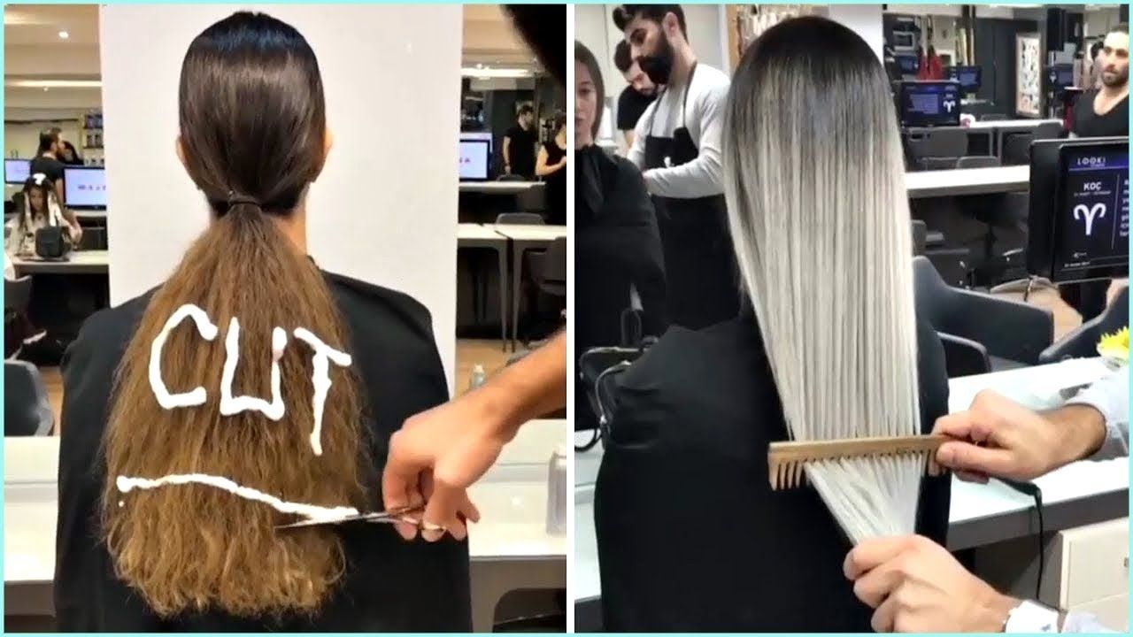 New Haircut And Color Transformation Amazing Hairstyles Compilation