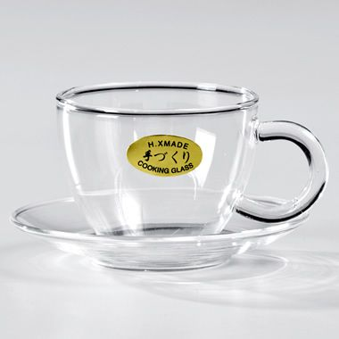 Glass cup and saucer for the best chinese tea drinking experience!