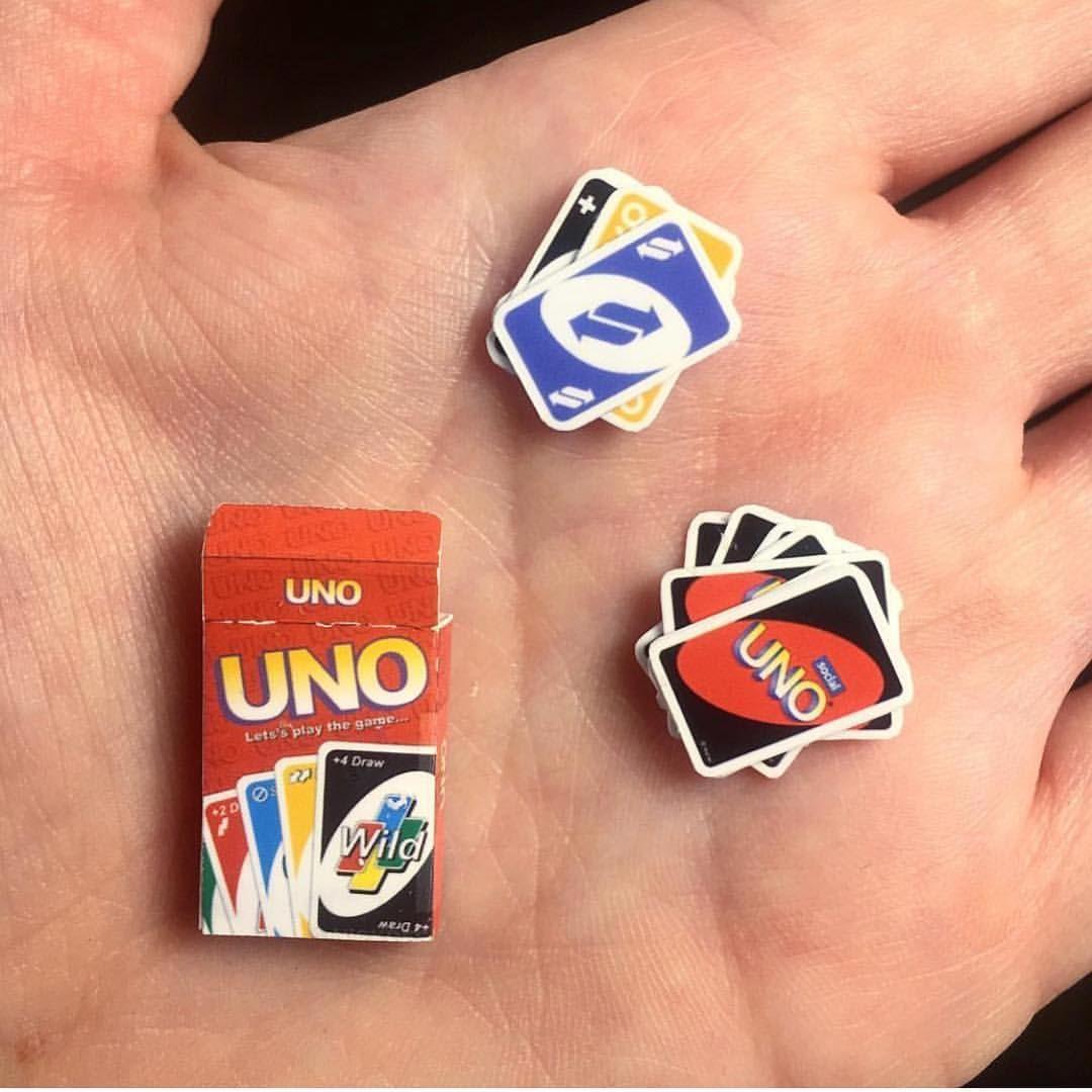 Dollhouse Miniature Uno Game