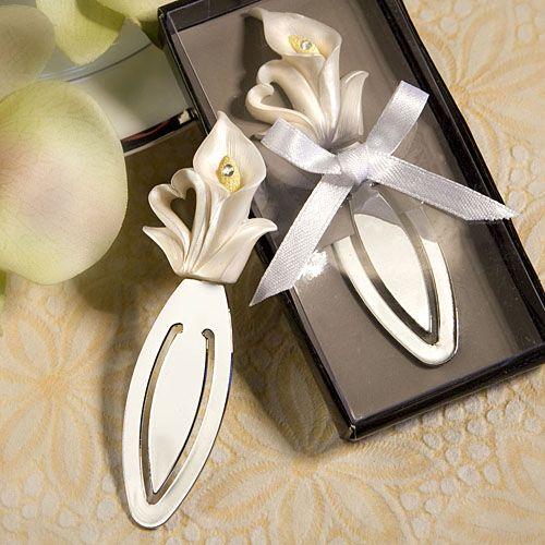 Calla Lily Design Wedding Favor Saver Bookmark Favors Discount