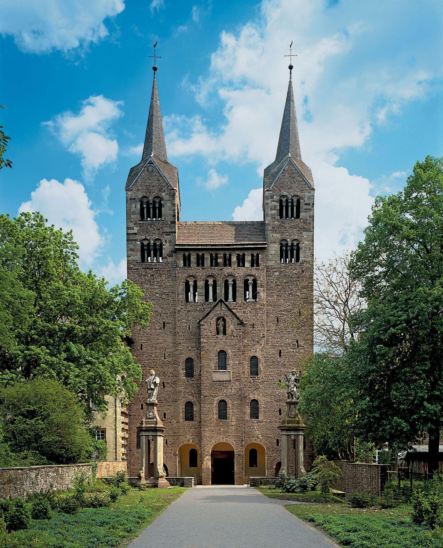Westwork, Abbey Church of Corvey. Germany. Late 9th ...