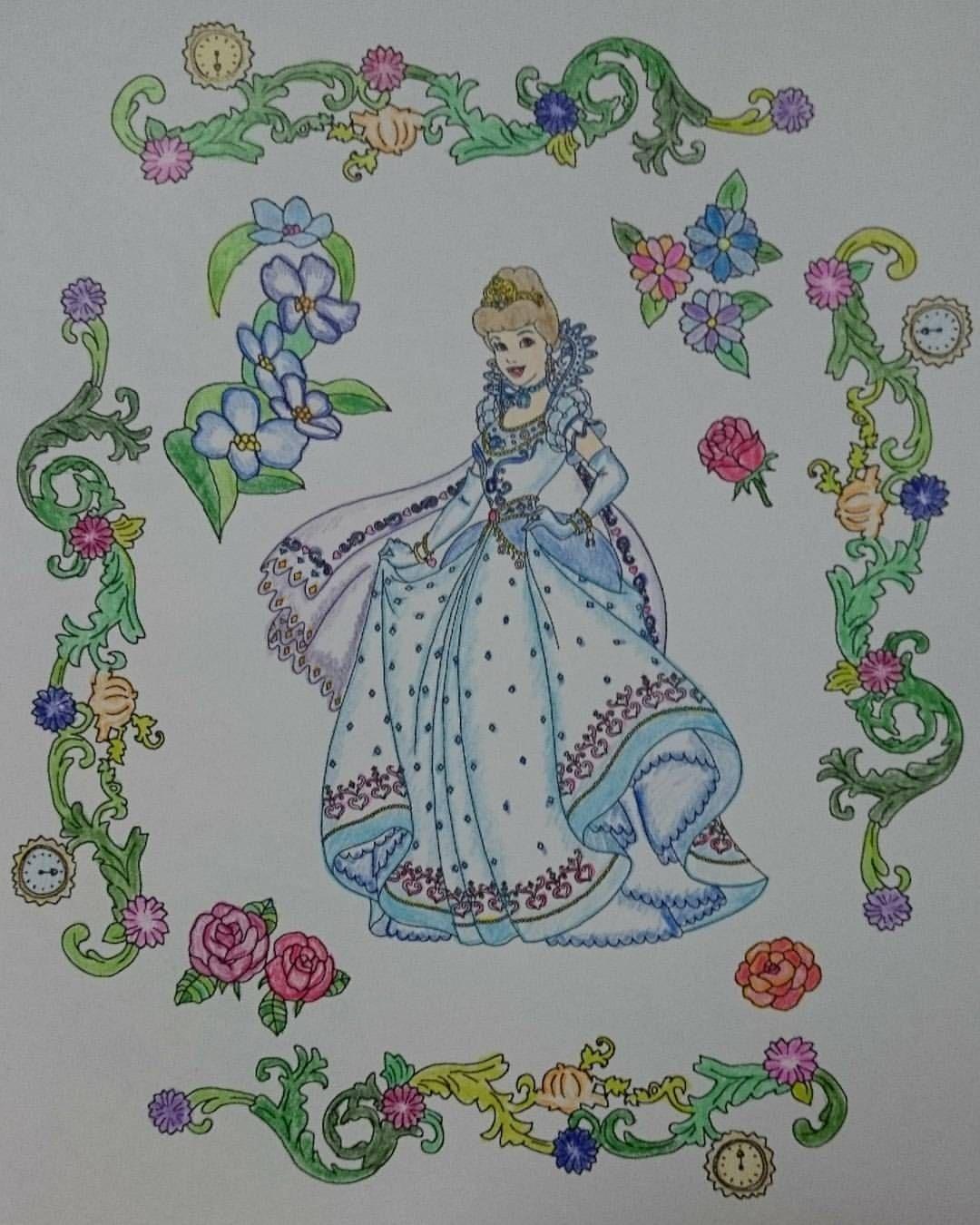 旅するディズニー塗り絵 大人の塗り絵 シンデレラ Cinderella