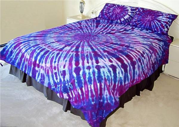 Tie Dyed Bedlinen Tie Dye Bedding Diy Tie Dye Bed Sheets Diy Tie Dye Bedding