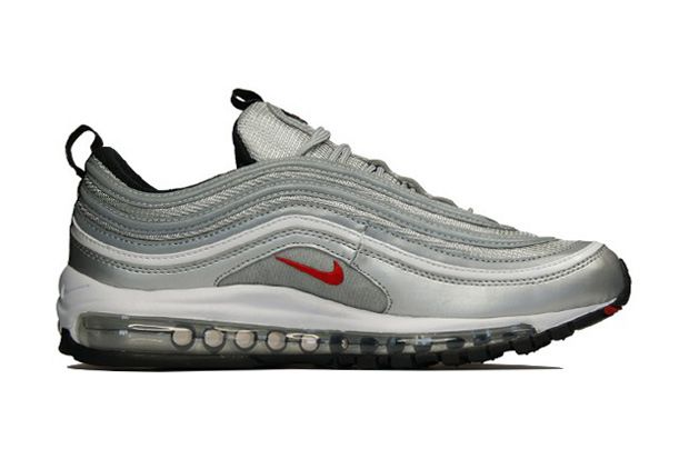 9591738411ac79 Air Max 97 Classic metallic silver   varsity red  Add white laces ...