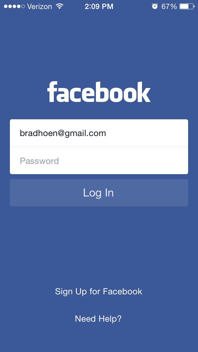 Facebook Login Screen App Login App Development Volunteer Quotes