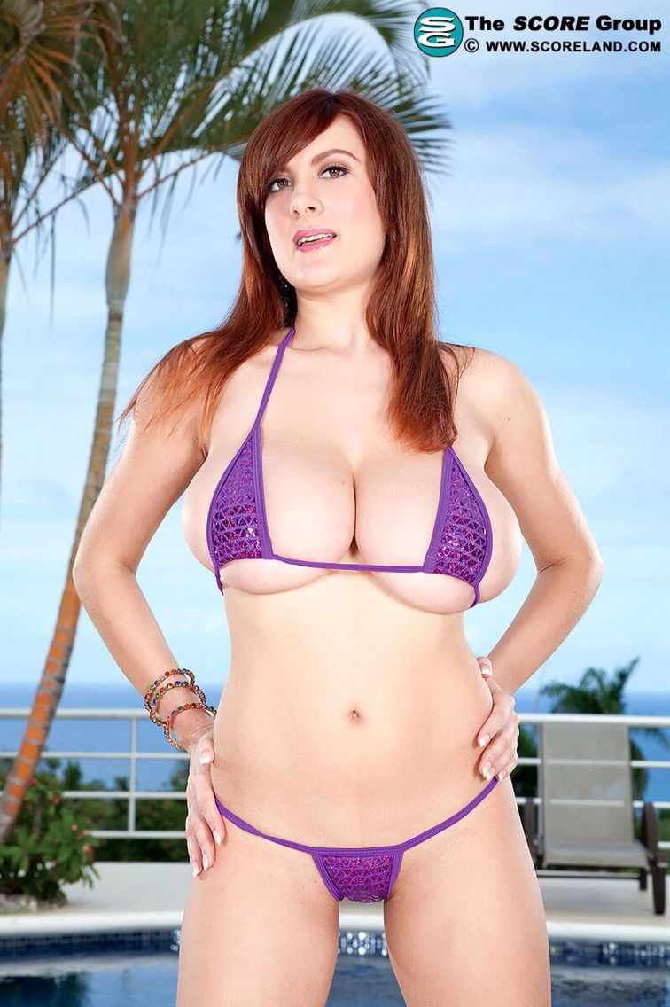 see through bikini Purple