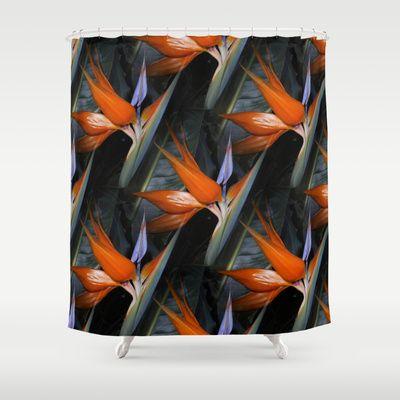 Bird Of Paradise Shower Curtain By RokinRonda