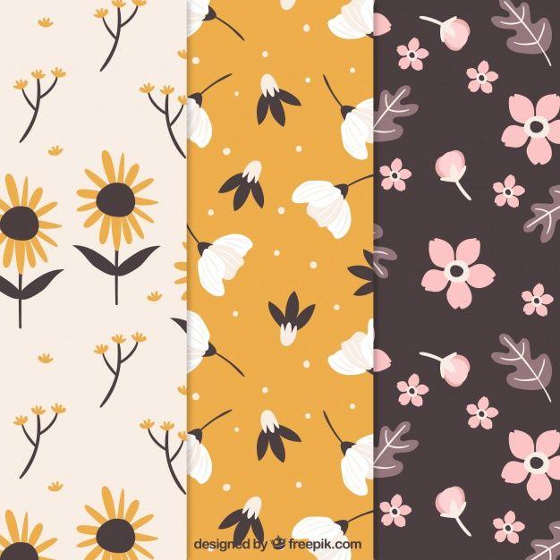 Pretty flowers patterns collection in flat style download thousands pretty flowers patterns collection in flat style download thousands of free vectors on freepik mightylinksfo