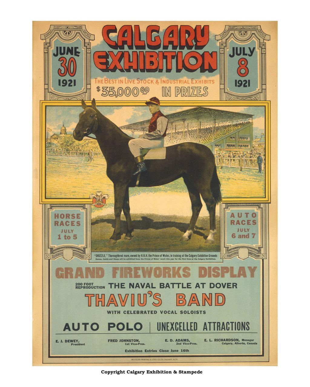 1921 Calgary Stampede Poster Rodeo Posters In 2019