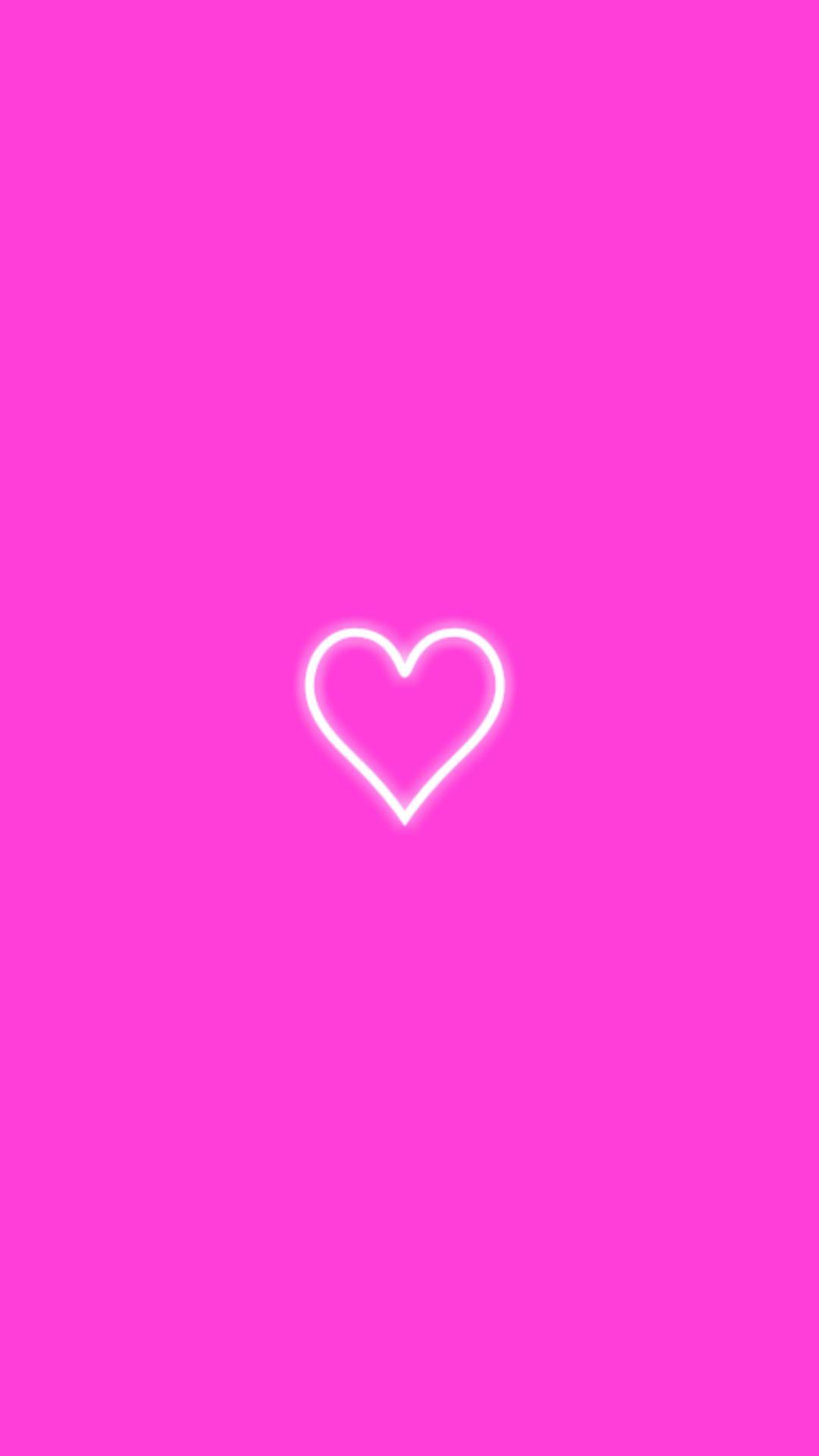 Pink Neon Heart Wallpaper Background Neon Heart Wallpaper Heart Wallpaper Neon Heart
