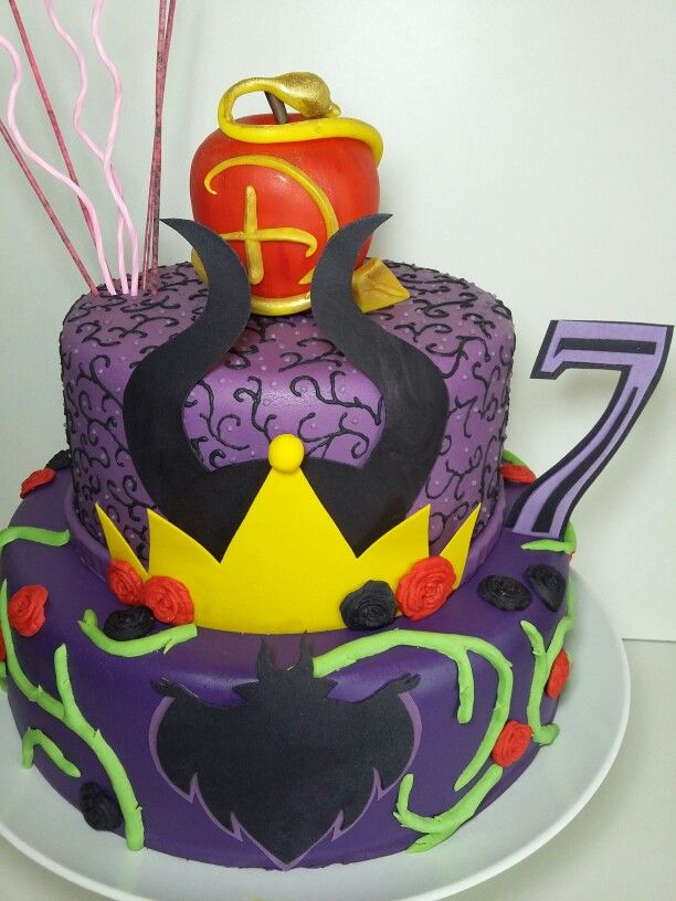 Cake Decorating Course Aberdeen : Torta Descendants caseros Pinterest
