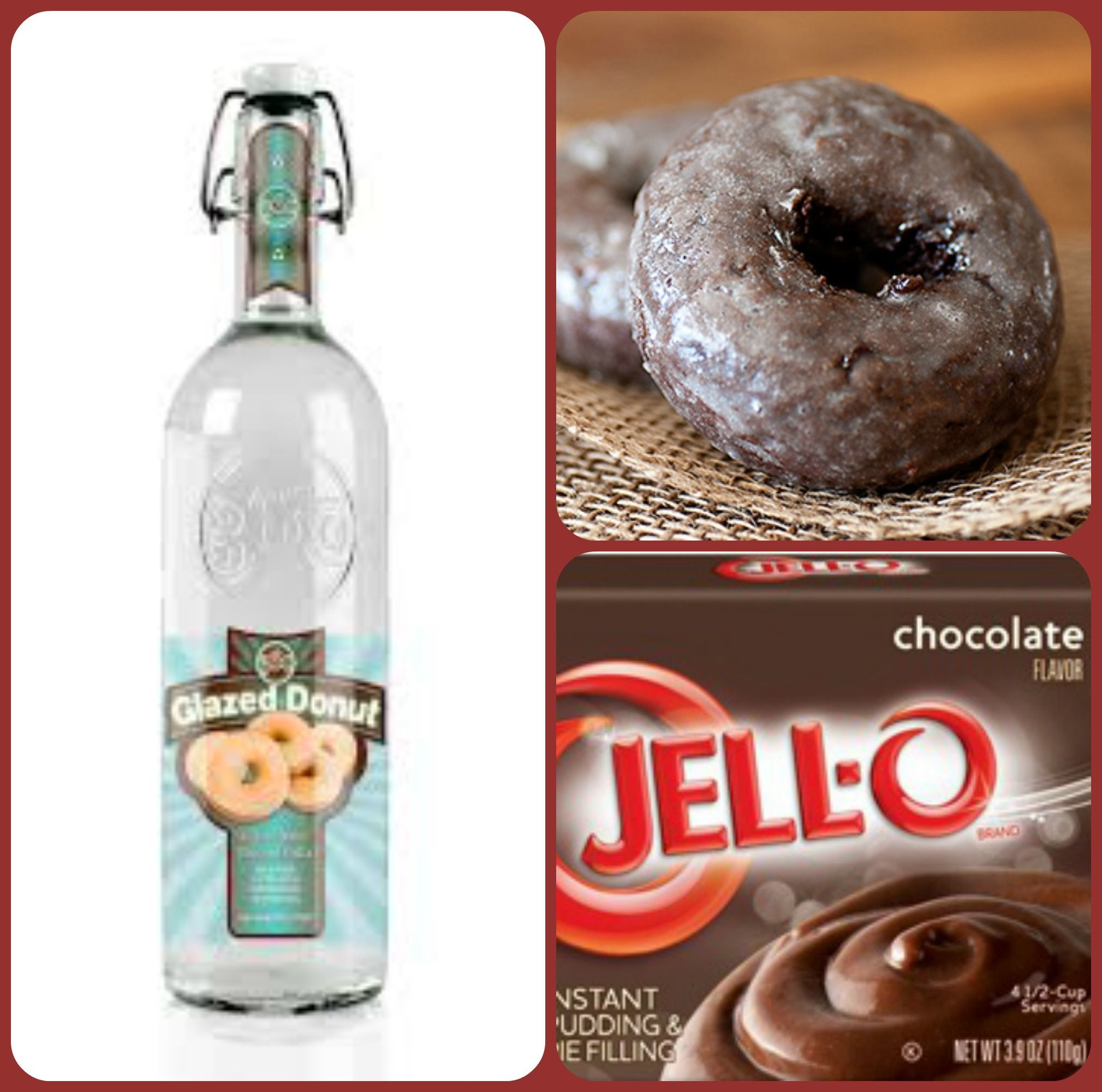 Chocolate Glazed Donut Pudding Shots 1 small Pkg. chocolateinstant ...