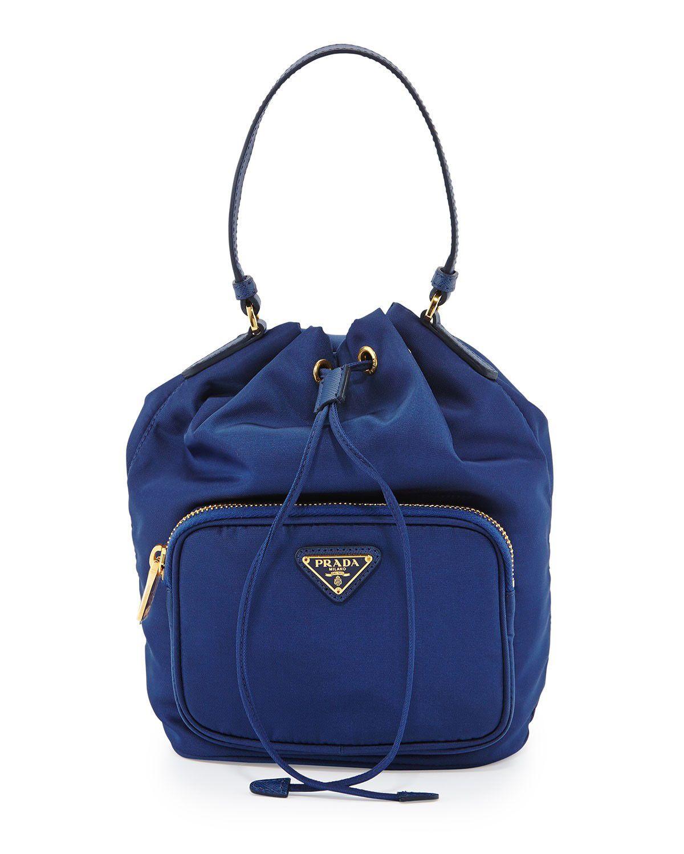2dcbc8c1be8 Prada Tessuto Mini Bucket Crossbody Bag Royal Blue #bagsforsale ...