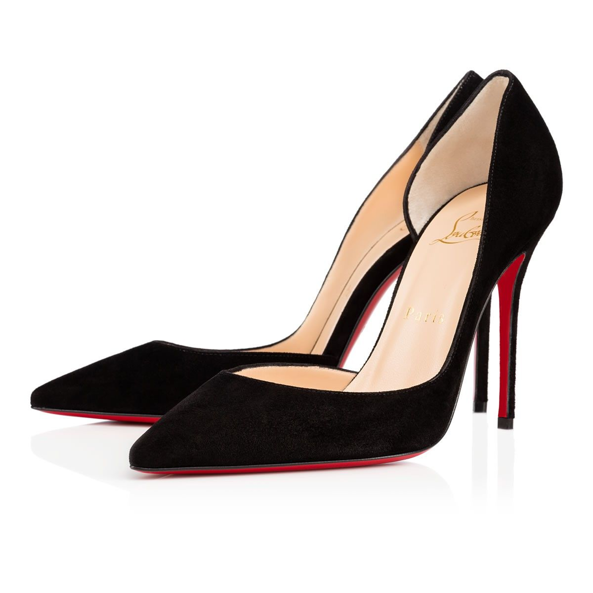 aac44f1cc2ef Christian Louboutin United States Official Online Boutique - Iriza 100 Black  Suede available online. Discover