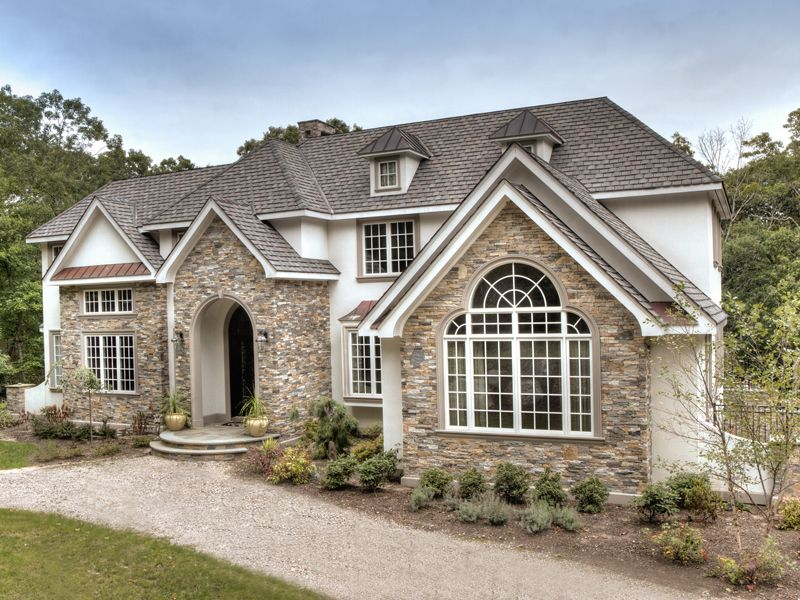 Image Result For Ledger Stone Stucco House Exterior Stone Siding House Stone Exterior Houses European Style Homes