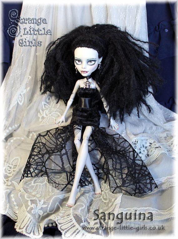 OOAK Gothic Vampire Monster High Ghoulia by StrangeLittleGirlsUK, £75.00