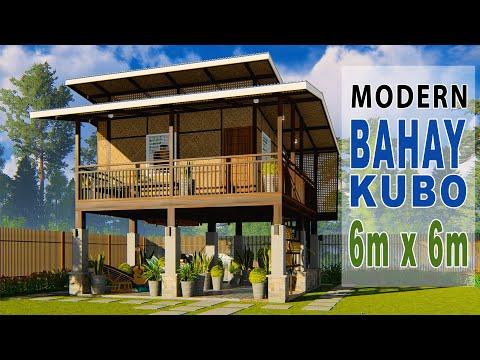 6 Modern Bahay Kubo Elevated Amakan House Design 6m X 6m Youtube In 2020 Tropical House Design Bahay Kubo Bamboo House Design