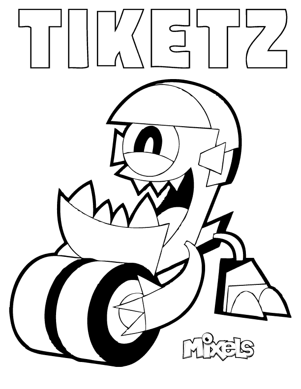 mixels coloring pages erics activity pages