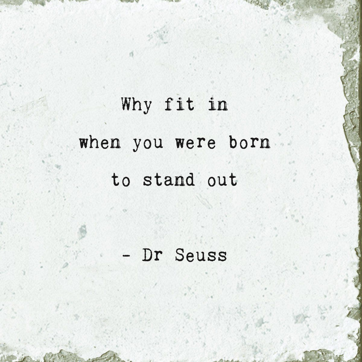 Why Fit In (Dr. Seuss) Marble Coaster