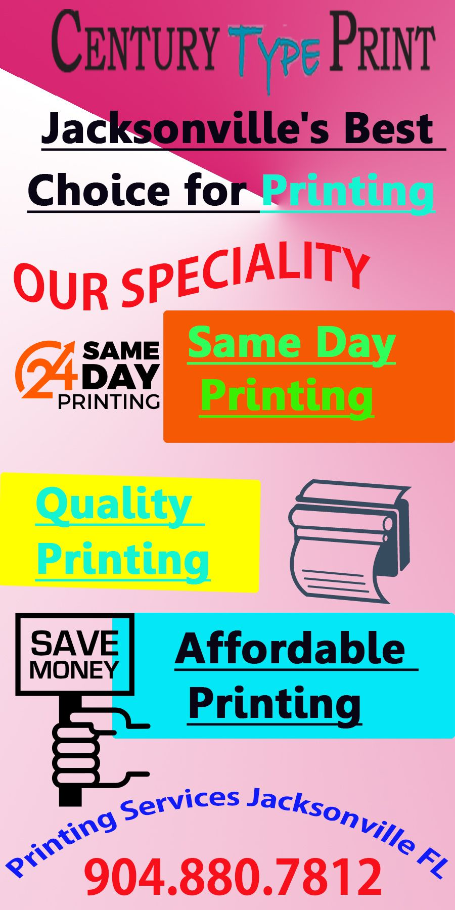 Century type print is an on demand printing company in jacksonville 3c42bdd2d4ddf8dc2d19370b1e9343adg reheart Choice Image