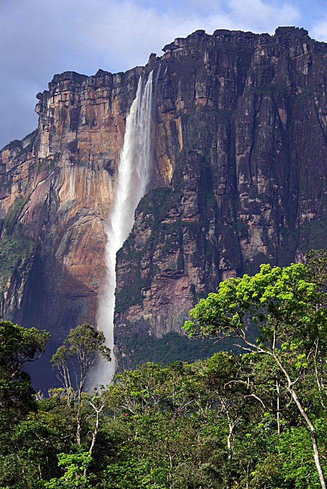 Angel falls are located on an isolated jungle accessible ...