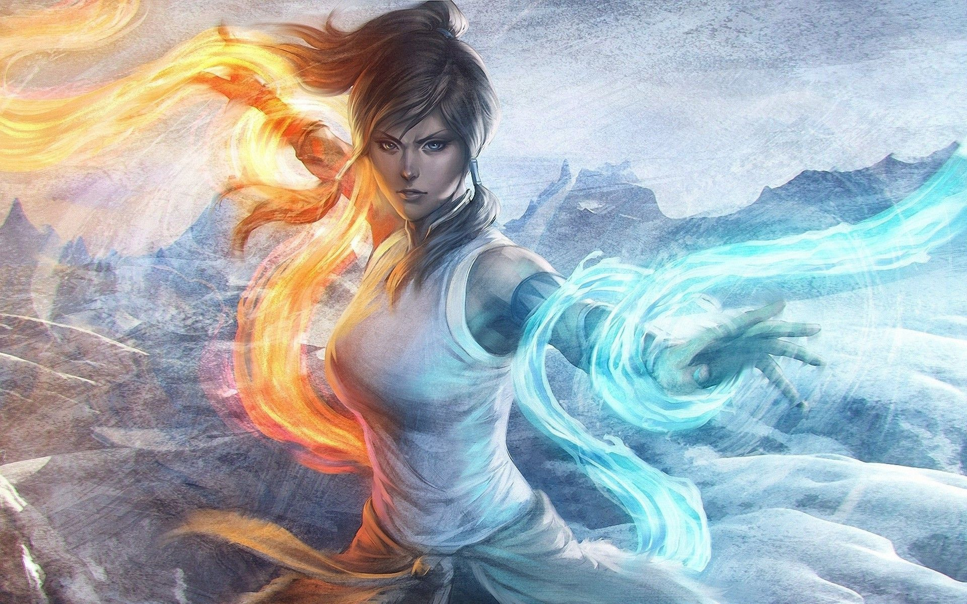 Korra Ice Stanley Lau Fantasy Girl Warrior Digital Art