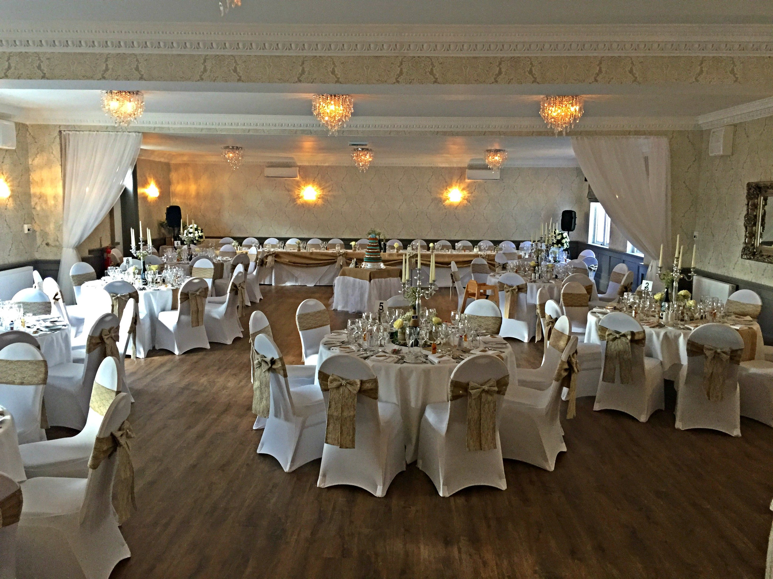Our New Ballroom Set Up For A Wedding Boutique Spa Hotel Located In Alloa Near Stirling