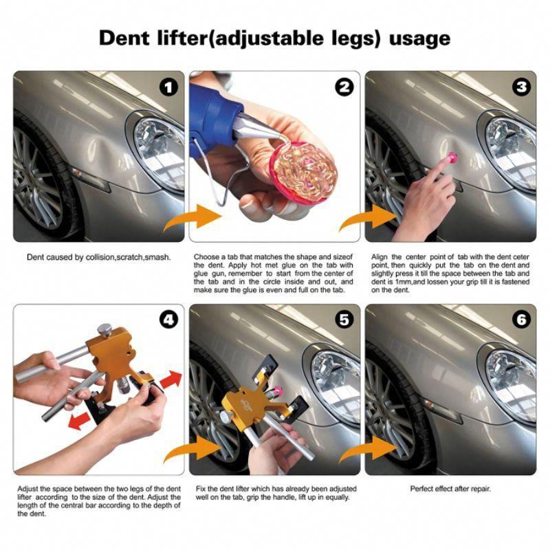 25pcs Car PDR/Paintless Dent Repair Tools Auto Dent Puller ...