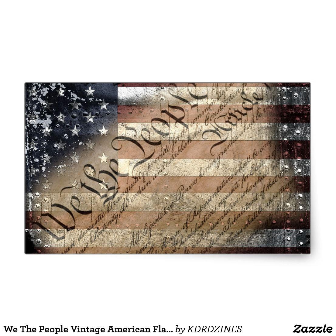 13a525e526af We The People Vintage American Flag Sticker