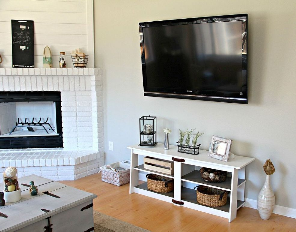 Diy media console with images modern diy luxury house