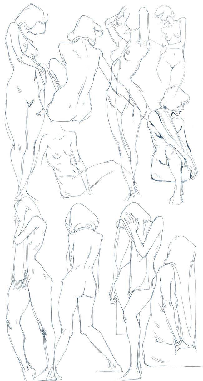 Female body pose references by Ying Chen   Desenhar   Pinterest ...