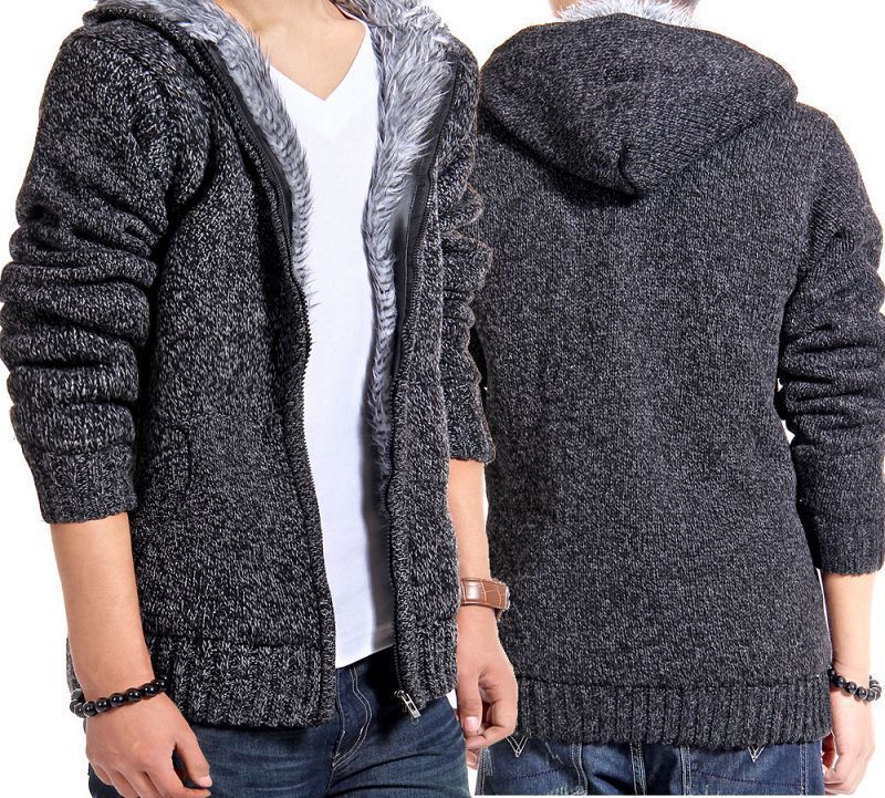 New-arrivals-men-cardigan-outerwear-men-s-thickening-sweater-coat-Hooded-knitted-sweaters-free-shipping-CM10.jpg (800 × 721)