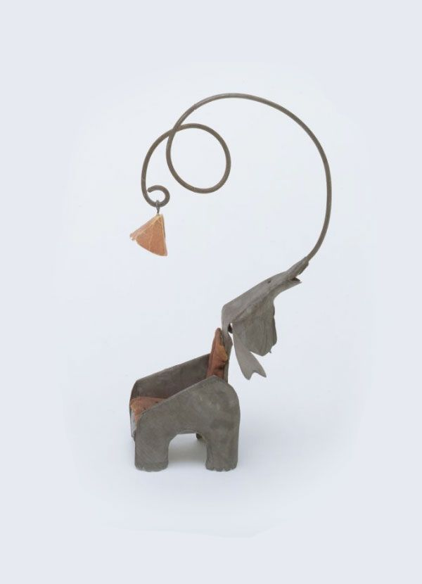 Alexander Calder, Elephant Chair with Lamp, 1928. Galvanized steel ...