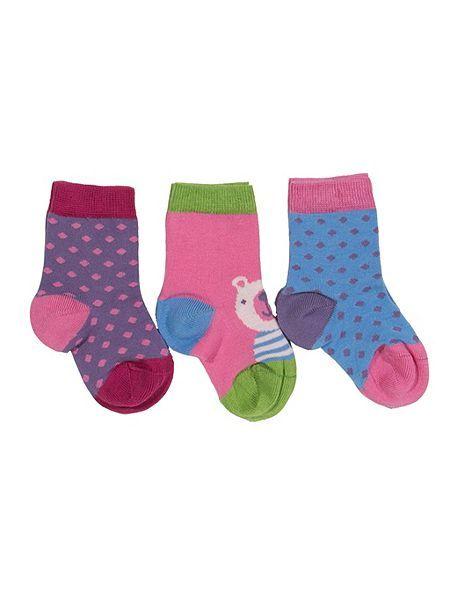 Baby Girls 3 pack socks