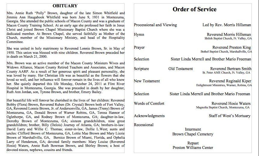 Obituary Template Word   Obituary    Template