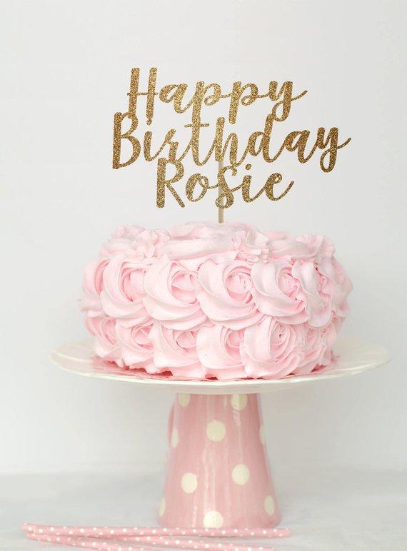 Happy Birthday Cake Topper Birthday Cake Topper Cake Topper First