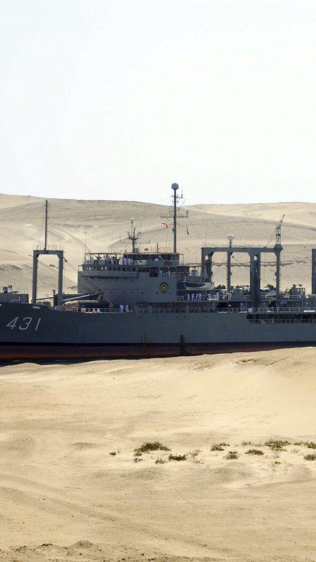 Kharg, replenishment oiler, Ol-class, Iranian Navy, warship, convoy, Suez Canal