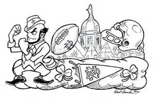 notre dame fighting irish coloring pages notre dame football coloring book murderthestout