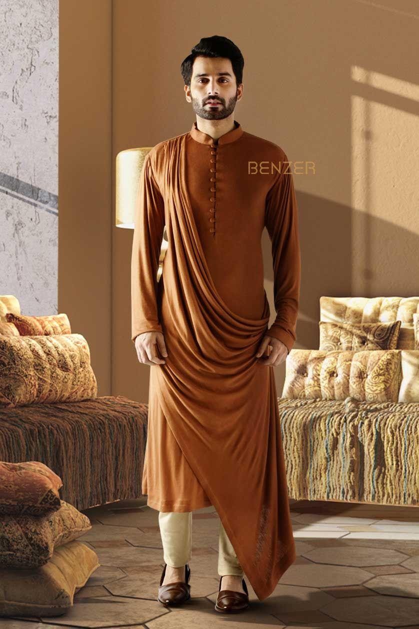 Black Short Embroidery Kurta//Kurti Cotton Blend Mens Ethnic Wear Indian Kurta