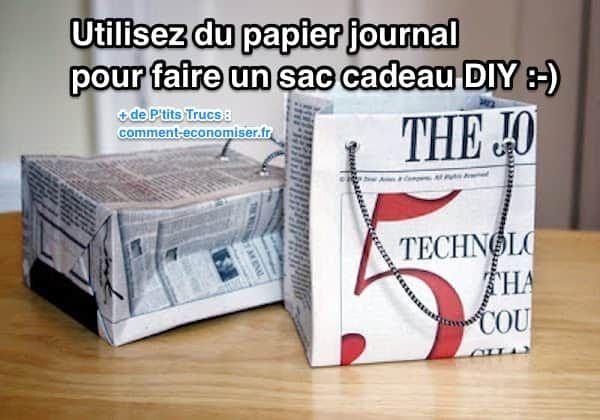 Comment Faire un Sac Cadeau Original En Papier Journal Sacs - truc et astuce maison bricolage