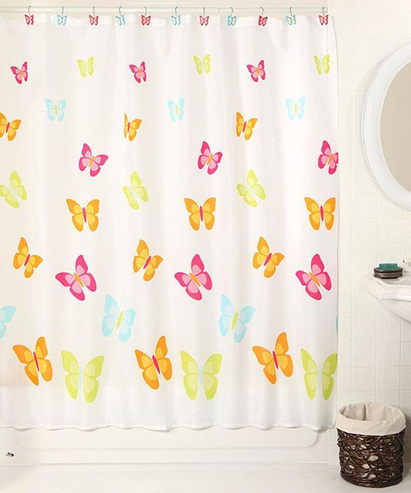 Butterfly Blessings Curtain Set For Shower