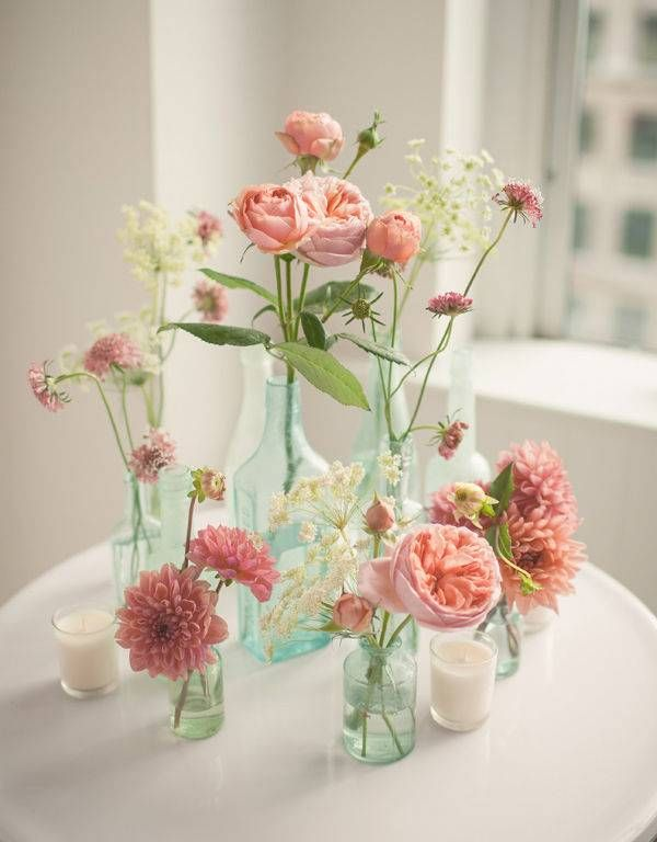 10 simple flower centerpieces for mother\'s day brunch | Simple ...