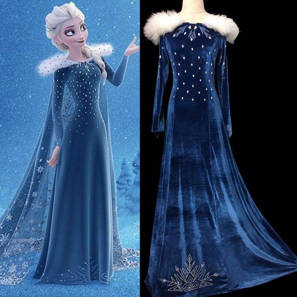 86b6c09ba3 R998 OLAF'S FROZEN ADVENTURE Elsa dress with rhinestone on the ...